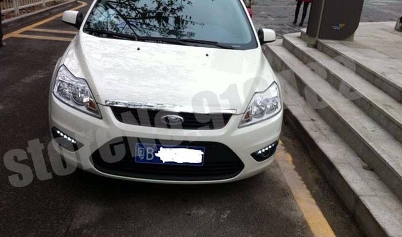 Car LED Light Sourcing External light LED Daytime running light DRL with fog lamp cover for 2009 ~ 2014 F-ord Focus 2 sedan