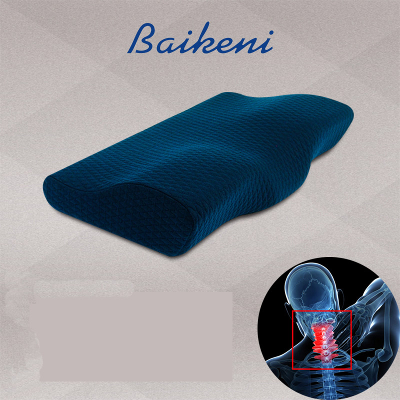 High Quality Adults Slow Rebound Memory Foam Orthopedic Cervical Neck Support Bedding Sleeping Pillow Health Care Pain Release(China (Mainland))