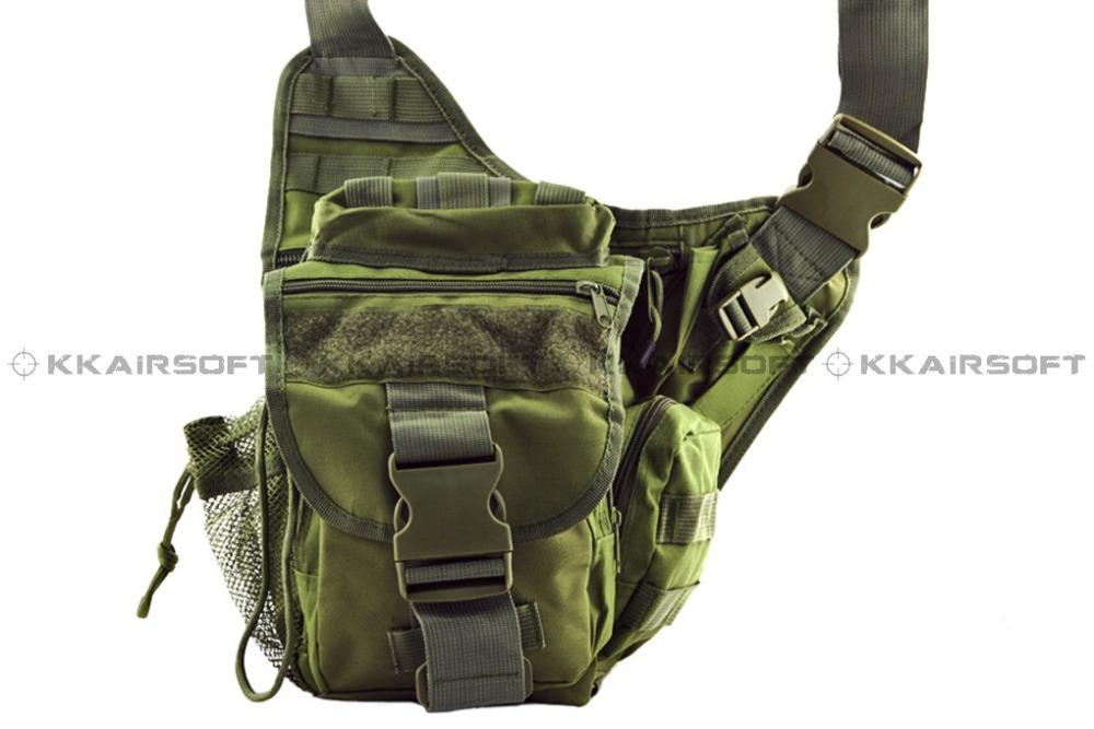 Tactical Utility Side Shoulder Carrier Bag Dark Green [SG-01] 00499(China (Mainland))