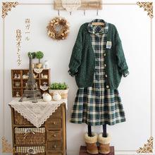 Japanese Mori Girl Lolita Cawaii Kawaii Style Fashion Cotton Linen Preppy Novelty Ladies Plaid Fresh A