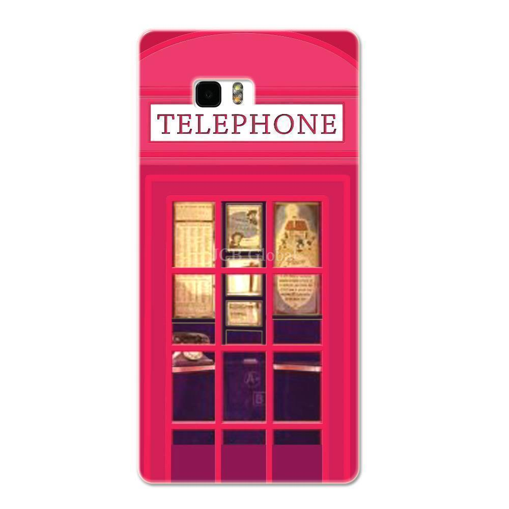 Rose Red London Telephone Booth Case For HTC 606W 608T 609D(China (Mainland))