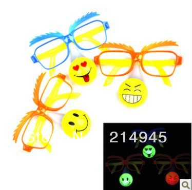 novelty toys/ light up toys in glass/ led shinning glasses/ funny glasses for party, halloween / smile glasses(China (Mainland))