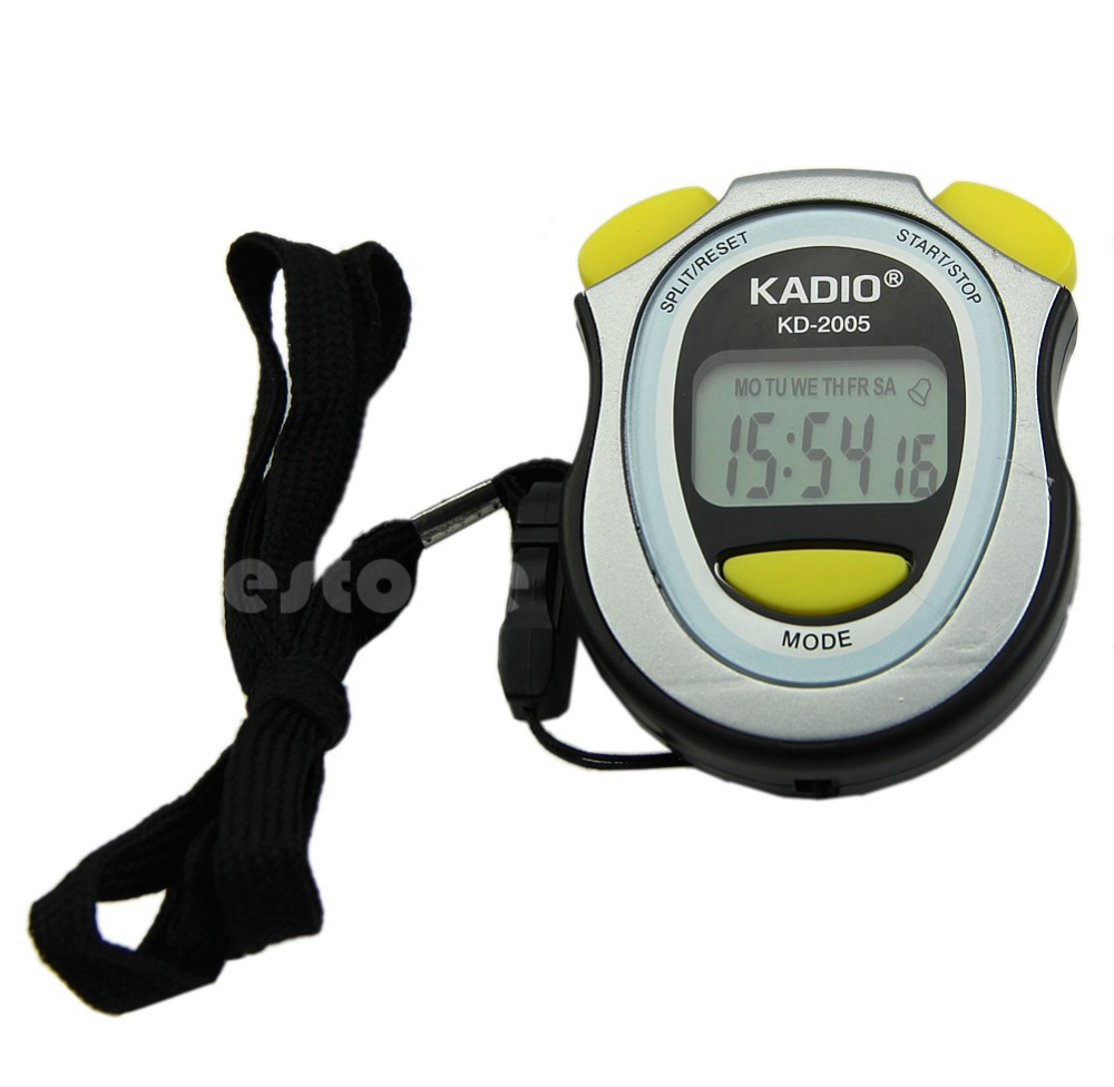 New Handheld Digital LCD Sports Stopwatch Counter Timer Chronograph<br><br>Aliexpress