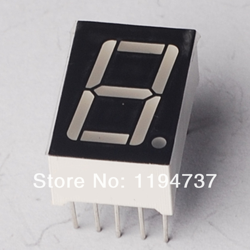 "Free Shipping Common Anode 1Bit Digital Tube 7 segment 0.32"" Red LED Display 10PCS/LOT(China (Mainland))"