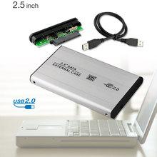 """Usb 2.0 hdd hard driver disk argenteo box esterno 2.5 """"sata hdd caso box EL5020(China (Mainland))"""