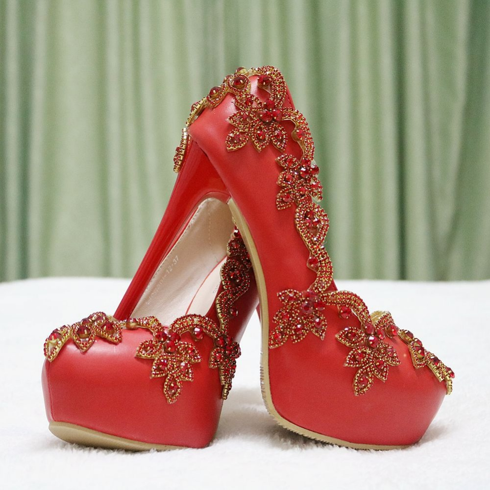 Popular Red Crystal Pumps-Buy Cheap Red Crystal Pumps lots from ...