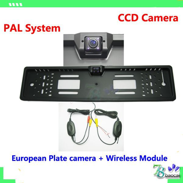 Parking assistance system Wireless front backup camera EU European License rearview camera back up camera reverse parking camera(China (Mainland))