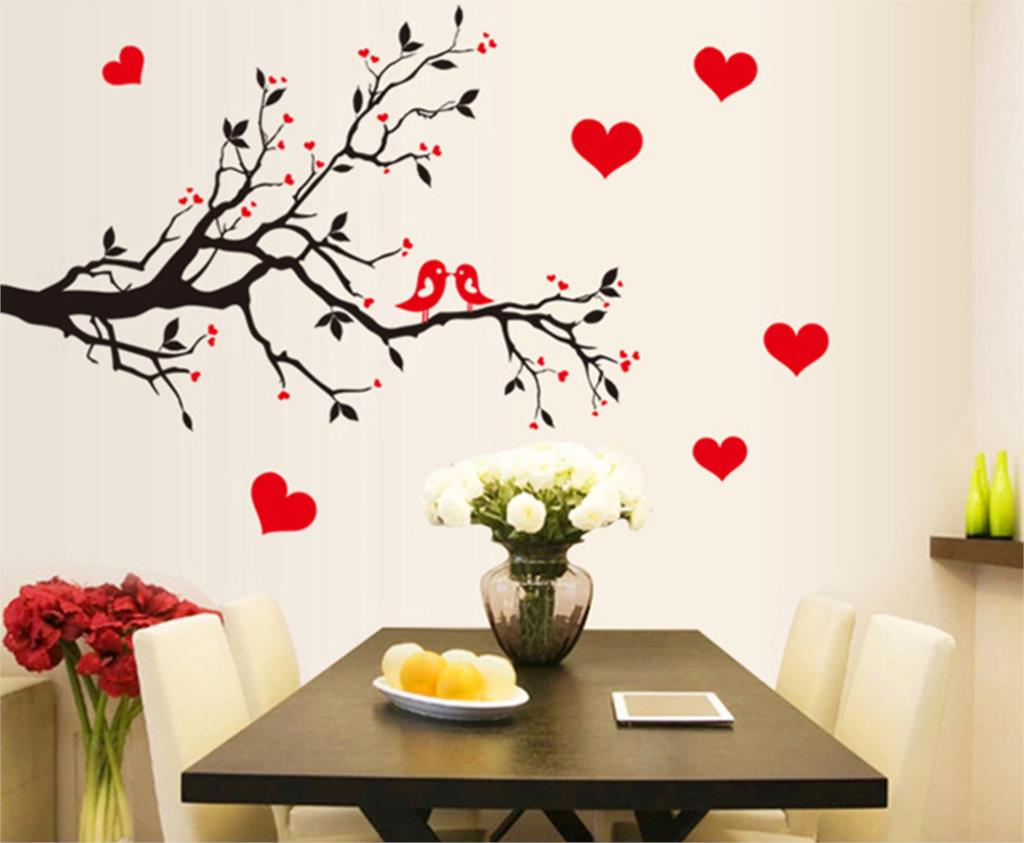 Chambre Vintage Romantique : Bird Tree Wall Sticker Decor