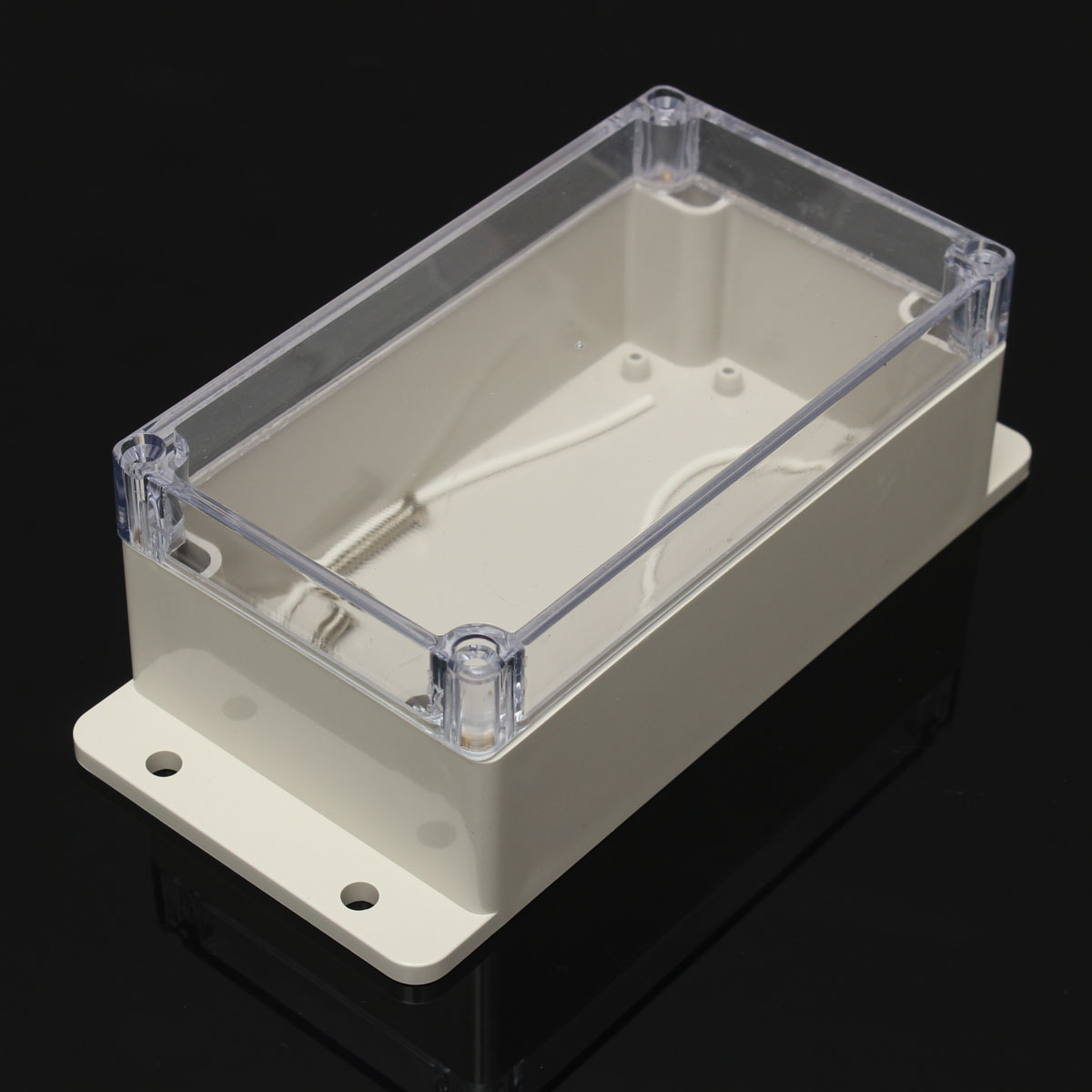 NEW Plastic PC Transparent Cover Outdoor Waterproof Electronic Instrument Junction Case Enclosure Box(China (Mainland))