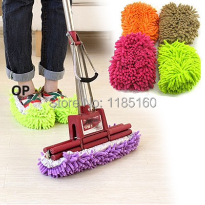 (Track Number) Free Shipping Lazy Dust Cleaner Slipper Shoes Cover House Bathroom Floor Cleaning Mop GoElJ(China (Mainland))