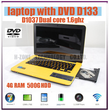 13 Inch 16:9 Laptop Computer with Intel Celeron 1037U Dual Core 4G RAM & 500G HDD Built-in DVD-RW 1.3MP Webcam HDMI Windows 7