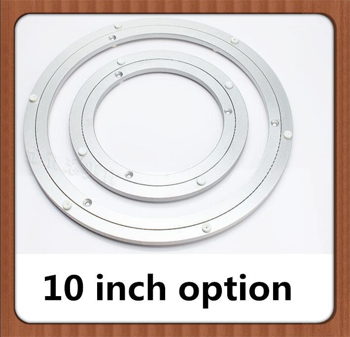 10 inch Aluminum Lazy Susan swivel plate round turntable bearings(China (Mainland))