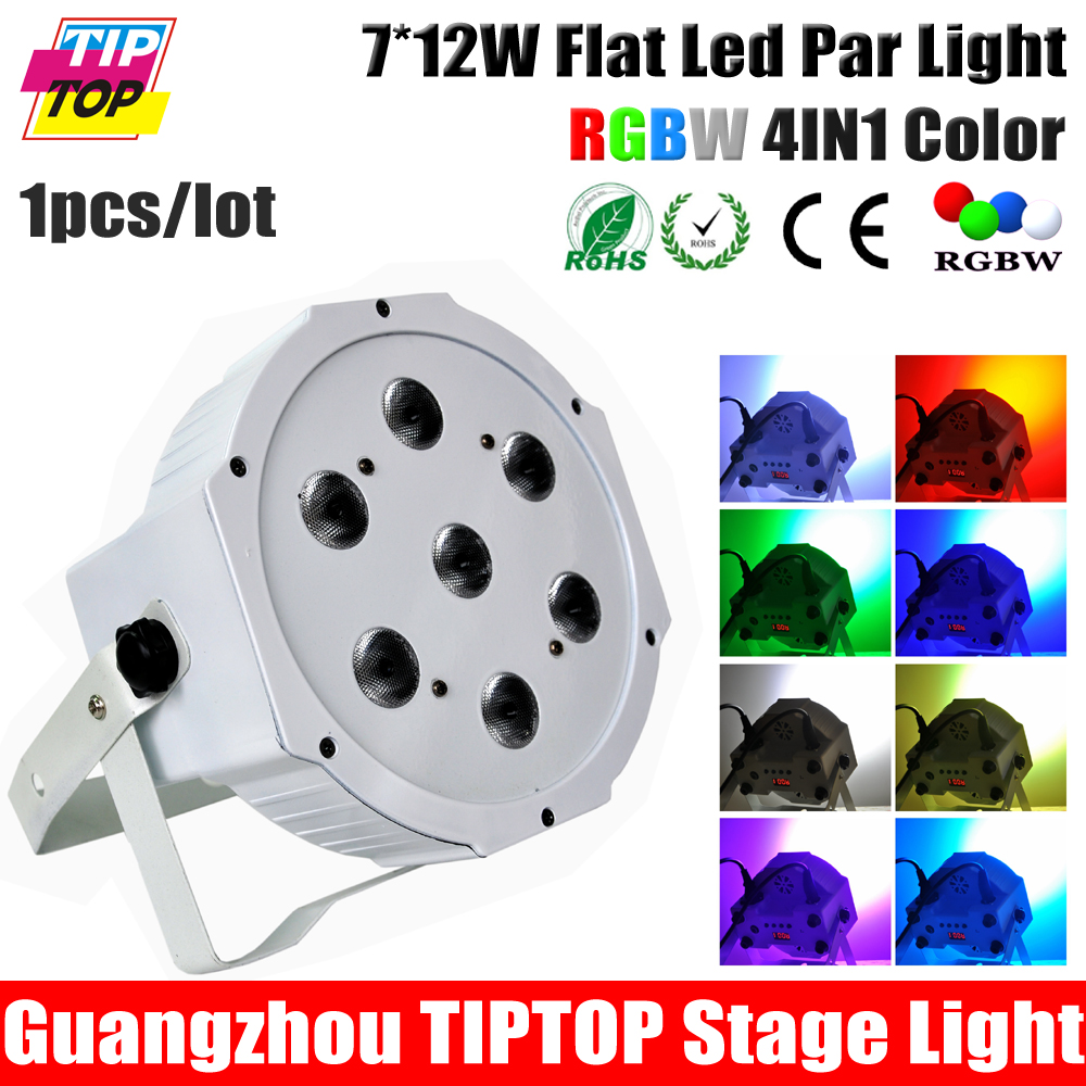 Фотография TIPTOP TP-P375A Low Noise 7pcs*12W Full RGBW/RGBA Led Par Can Stage Light 32 Bit Linear Dimmer Mini for Christmas New Year Party