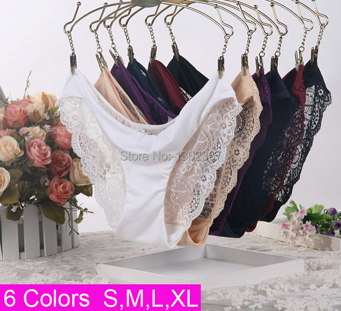 Women Lace Sexy Panties,Ultra-Thin Transparent Flower Embroidered Patterned,Plus Size Underwear Seamless Briefs 6Colors S/M/L/XL(China (Mainland))