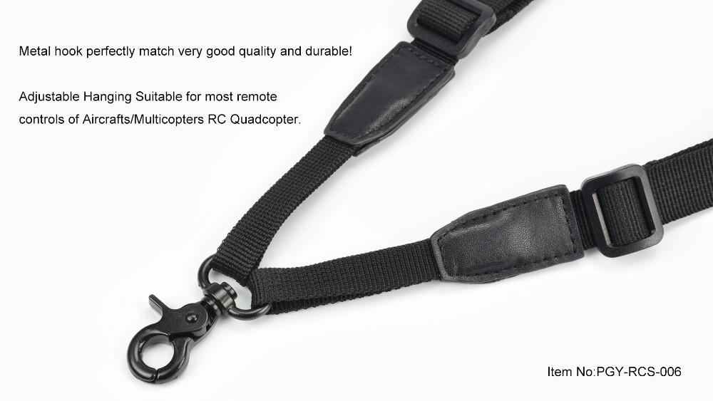 PGY Remote Controller Quick Rapid Shoulder Sling Black Strap Belt Sling Sponge Pad forTransimitter RC Parts DJI Phantom inspire