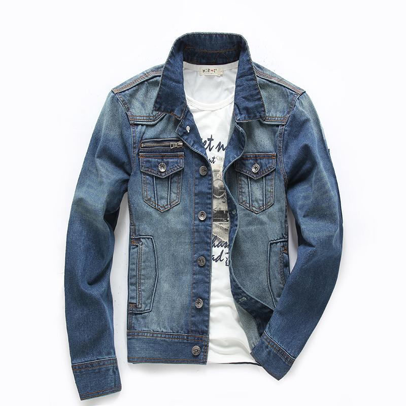 Mens Cheap Denim Jacket - Coat Nj