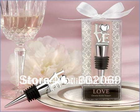 LOVE style wine stopper ,Wedding gifts BO-002