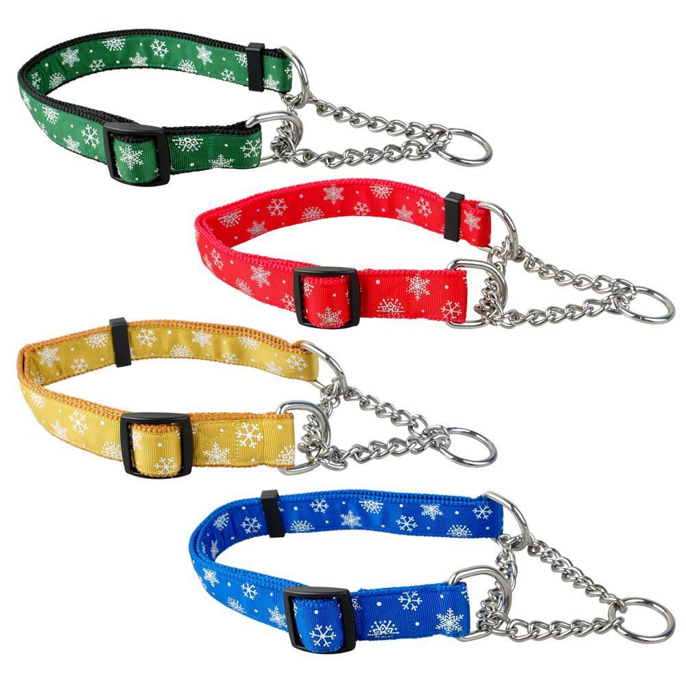 Half Choke Chain Dog Collars