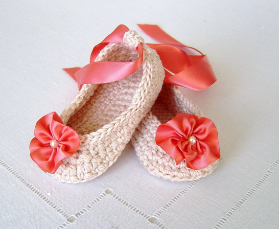 Crochet Pattern Baby Ballerina Slippers Baby Wedding Shoes Crochet Bridal Booties<br><br>Aliexpress