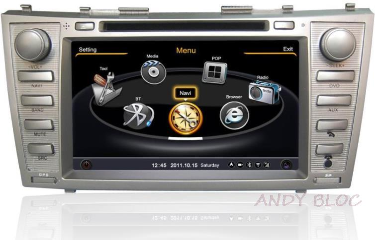 S100 Car DVD Player For Toyota Camry 2008-2011 with GPS A8 Chipset 3 zone POP 3G/wifi BT 20 dics playing navigation audio(China (Mainland))