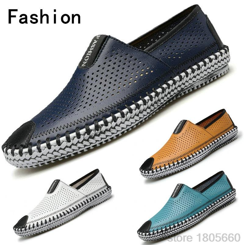 Free Shopping Fashion Cool Men Shoes Breathable Genuine Leather Men s Flats Low Casual Sneakers Spring