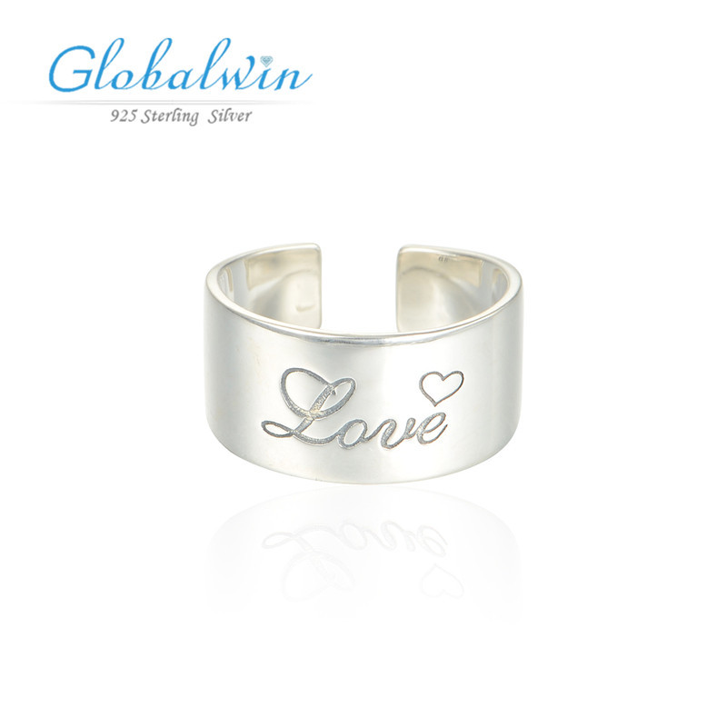 Crown Ring 925 Silver Ring  Sterling Silver Adjustable LetterLove Ring Fine Jewelry Jewelry Silver 925 Ripy001-8<br><br>Aliexpress