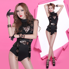 Buy Dance costumes sexy new bar DJ singer night dance clothing female costumes DS jazz dance stage costume show outfit clothing set for $50.40 in AliExpress store