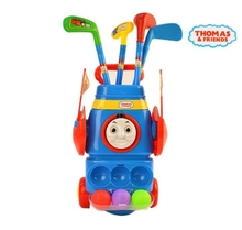 Thomas & Friends Junior Plastic Golf Set Balls Clubs Trolley Kids Outdoor Garden Game Toy(China (Mainland))