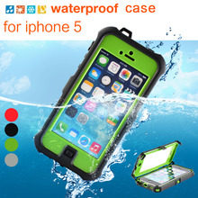 ZVE 100% sealed Waterproof Case ShockProof /Dirt/Snowproof cover case for iPhone 5/5s  free shipping(China (Mainland))