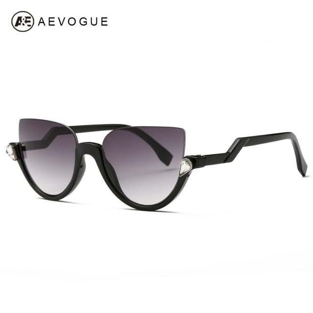 Aevogue очки женщин 2016 новые полуободковые кадров Z - в форме храм металлические петли солнцезащитные очки модной UV400 AE0357