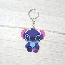 1 PCS Soft PVC Figura Dos Desenhos Animados Stich Totoro Chaveiro Olá gatinho gato Anel Chave Bonito Anime Keychain Brinquedo do Miúdo chave Titular Trinket Presente(China)