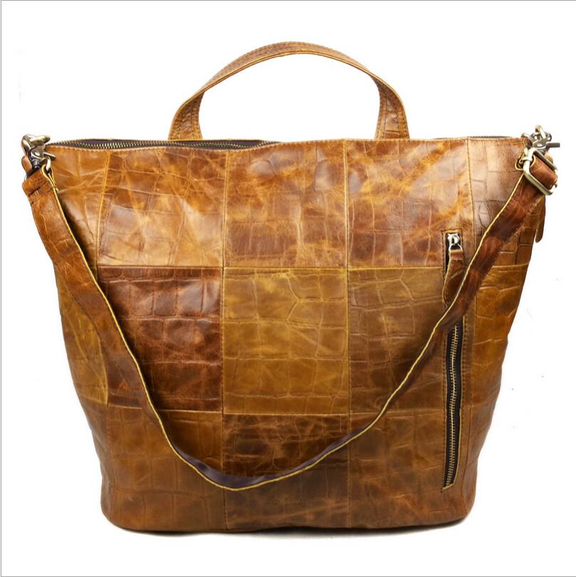 100% Genuine Leather Bag New Vintage Fashion Cowhide First Layer Leather Women Handbag Shoulder Bag Brown Messenger Bags 8147<br><br>Aliexpress