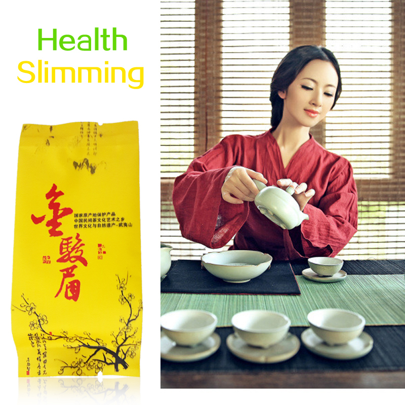 Black tea premium hardcover tea Wuyishan Jinjunmei healthy weight loss self cultivation Free shipping 5g bag