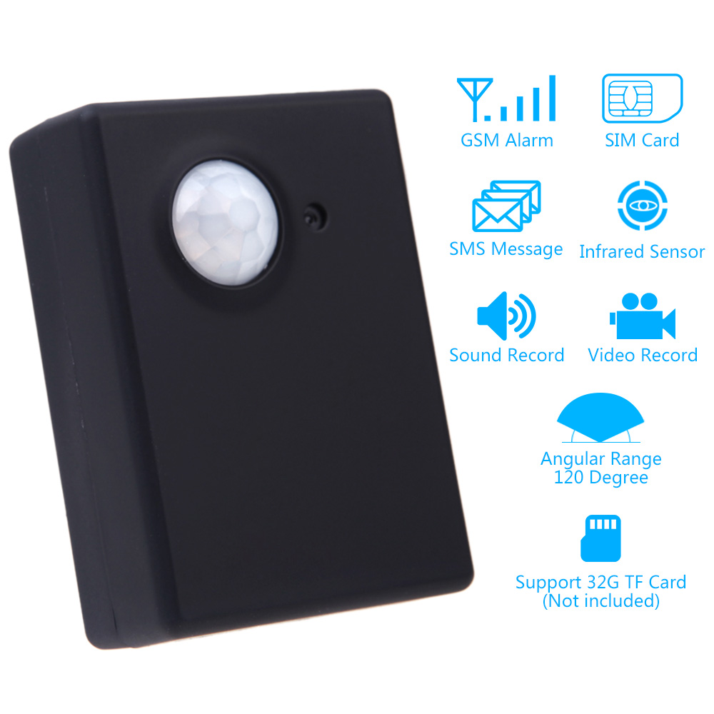Wireless 1.3MP Infrared Camera Video Security Motion Detector GSM Home Office PIR SMS MMS Alarm System Anti-theft EU adapter(China (Mainland))