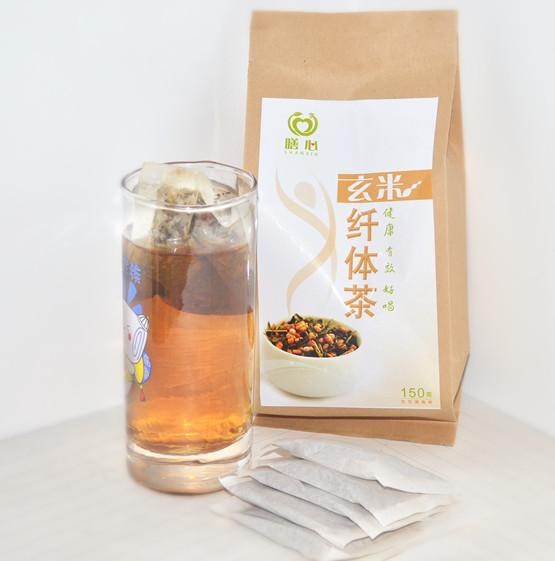 Certified organic brown rice Genmai slimming tea powder bag slimming constipation blood anemia<br><br>Aliexpress