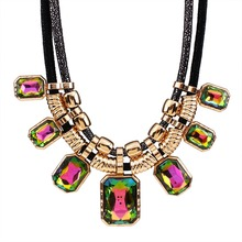 Trendy Necklaces Pendants Rope Collar 18K Gold Plated Crystal Statement Bling & Fashion Necklace Women Jewelry N2575