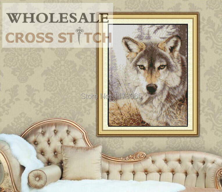 Needlework DIY DMC Cross stitch Sets For Embroidery kits the wolf square diamond painting Cross Stitching