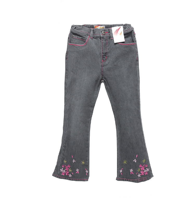 Children Europe and America Flared trousers 2016 Baby Girls Jeans Brand Fashion Autumn 4-7Yrs Kids Trousers(China (Mainland))