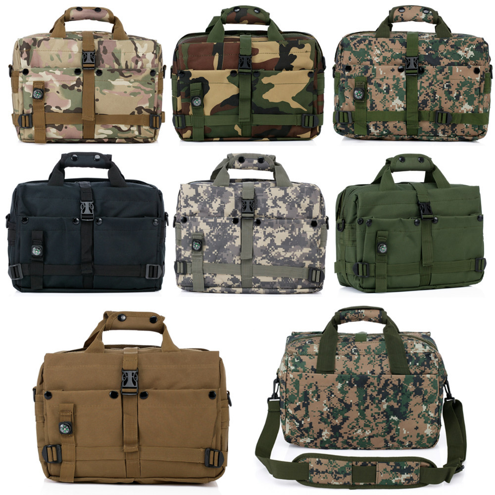 Outdoors Military Combat Computer shoulder bags Army Fans Tactical Laptop Bag Compass Computer Leisure 13 inch(China (Mainland))