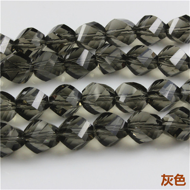 Fashion Helix Beads(50PCS/LOT)12MM Crystal Twist Beads for Woman Necklaces& Bracelets Bolas de Fieltro DIY Crystal Glass Beads(China (Mainland))