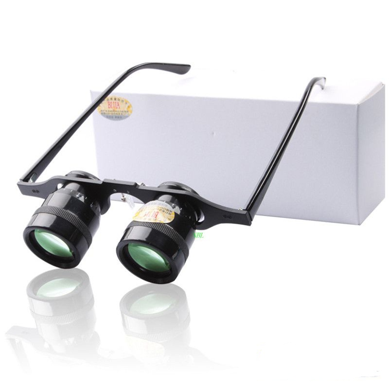 Mini Fishing GlassesTelescope 10X Magnifying Loupe Binoculars BIJIA Green Film Portable Zoom For Hiking Concert Watching Sport(China (Mainland))