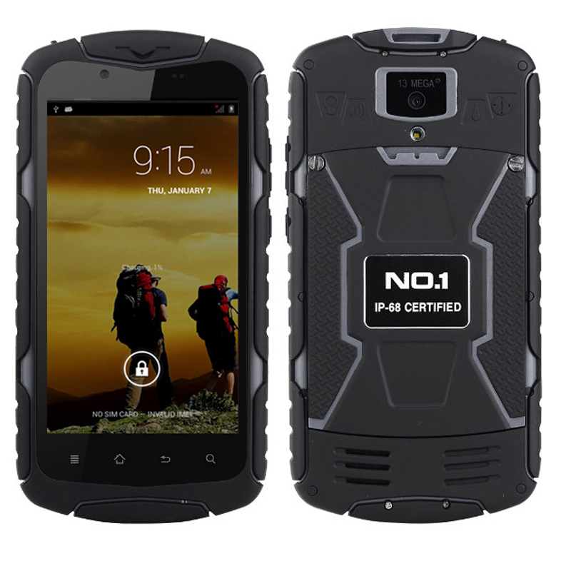 Original DTNO.I NO.1 X1 X-Men IP68 Rugged Waterproof Shockproof MTK6582 Quad Core Android 4.4 5.0'' HD IPS 13MP GPS Mobile Phone(China (Mainland))