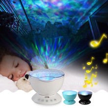 Upgrade Ocen Projector Lamp Speakers Daren Wave Led Nightlight MINI-Wave Aurora Master Night light Music Speaker Support TF Card(China (Mainland))