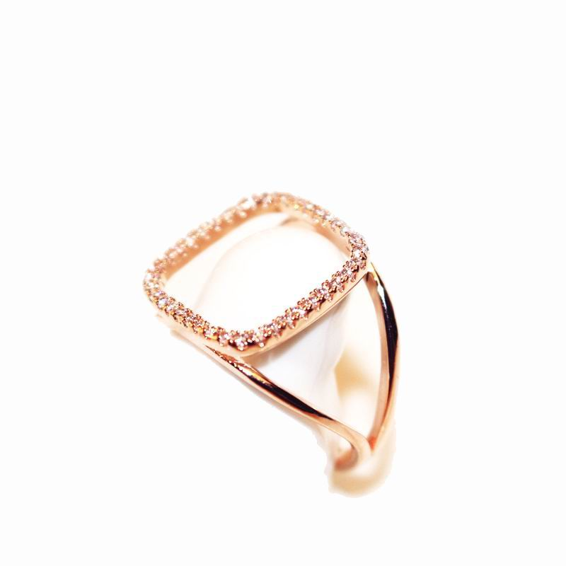 Fine jewelry adjustable rose gold plated ring fashion delicate luxury rhinestone rings for women bijoux gift(China (Mainland))