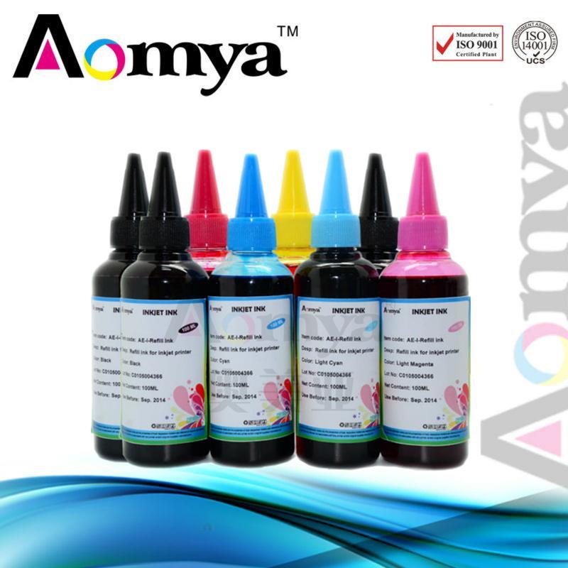 8 x 100ml Refill ink CLI8 cli-8 for CANON Pixma Pro 9000 refillable cartridge CISS<br><br>Aliexpress