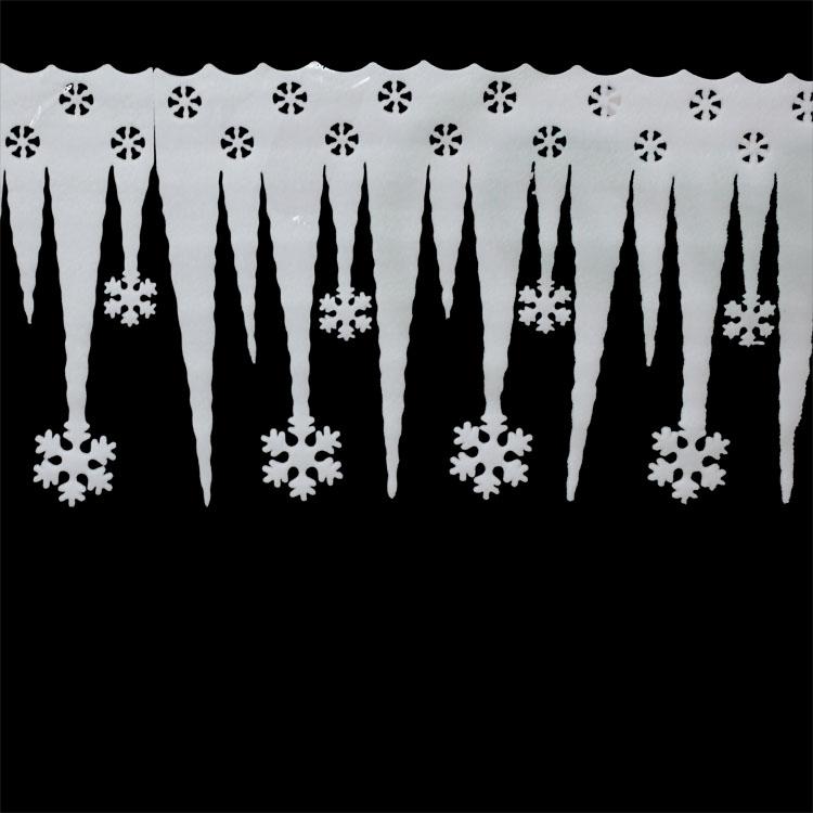 6pcs/lot 65CM Christmas Snowflake Icicle, Indoor Christmas Decoration,Wall decoration,Christmas Accessories(China (Mainland))