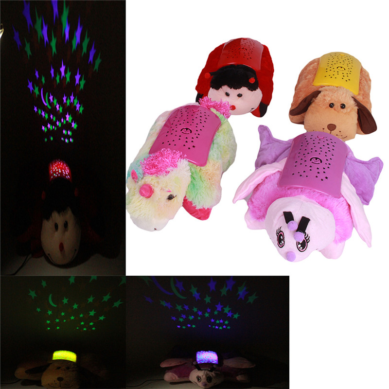 Children Plush toys Star Projector Flashing Stuffed & Plush Animals Dog Music Sounding Glow Dark classic toys DW877500(China (Mainland))