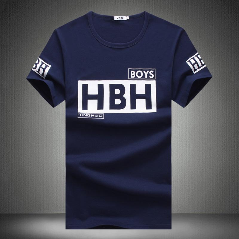 2016 New T-shirts Men Short Sleeve O Neck Young Gradient Printing Men Tops Tees Shirts Men Cotton Casual T Shirts Brand Clothing()