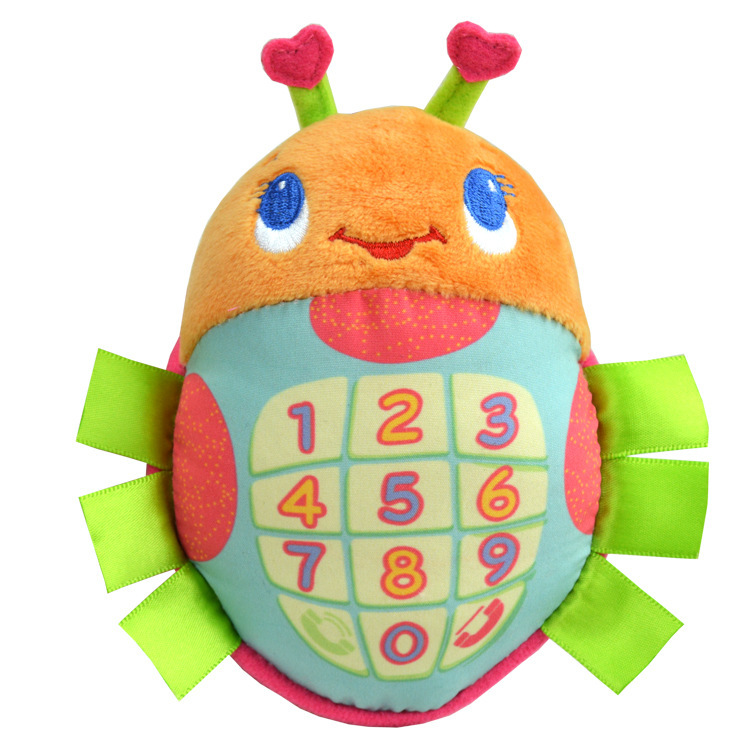 Sozzy Soft Plush Ladybug baby musical Mini educational toys - Phone Friend Toy Bugaboo(China (Mainland))