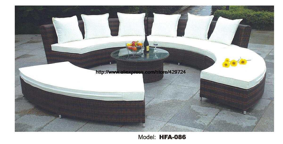 mobiliario de jardim em rattan sintetico:Round Rattan Garden Furniture